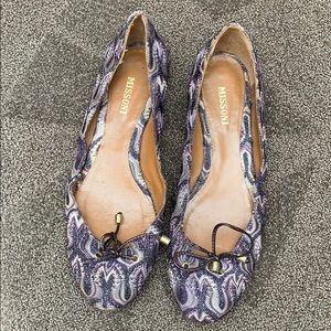 MISSONI ballet slippers shoes flats size 40 PURPLE